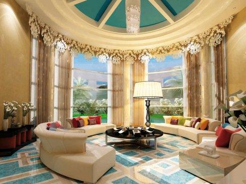 White living room by Envy Interiors, Vick Vanlian, Galerie Vanlian