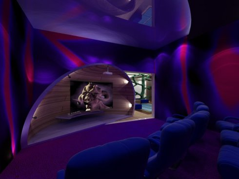 Interior Movie theatre  by vick Vanlian, Envy Interiors, Galerie Vanlian