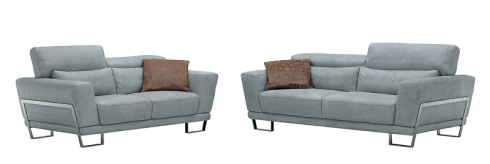 Lolita: Elegant refined and sexy 3-seat & 2-seat sofas in grey color with adjustable headrest for full comfort.