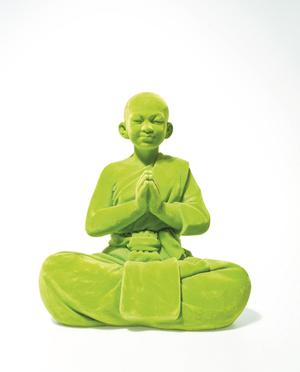 Velvet Green Buddha