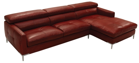 Extension: Three seater sofa with chaise longue, available in leather & fabric.