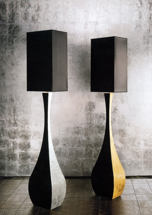 Casa: Unique style of floor lamp, vase shaped.