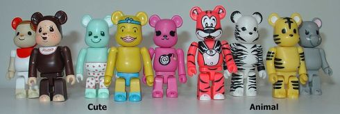Bearbrick Toys in Cute and Animal Configurations