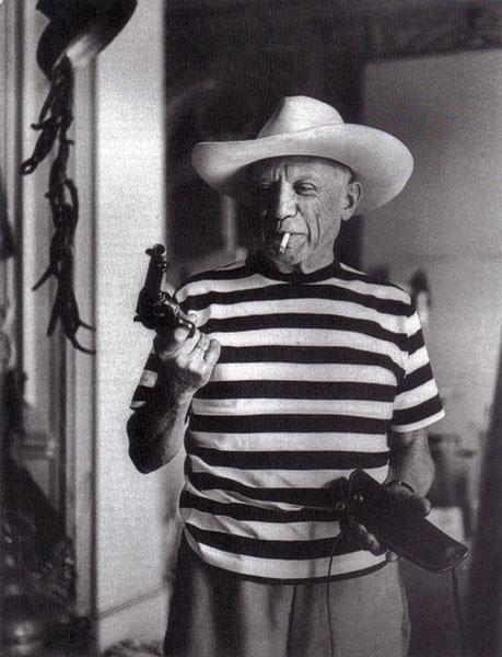 Pablo Picasso Posing as a Cowboy