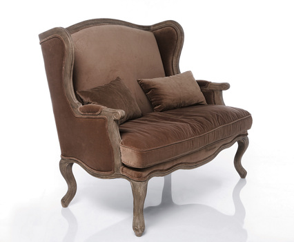 Villa Sofa Grandfather 2 Seater Velvet