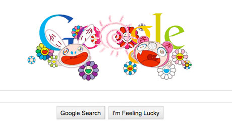 Summer solstice Google doodle by Takashi Murakami.