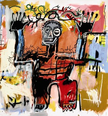 Untitled acrylic, oilstick and spray paint on canvas painting by Jean-Michel Basquiat, 1981