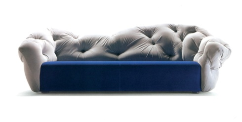 Vanessa: Sofa in leather & fabric design, in order to emphasize our unique style and love of beautiful designs.