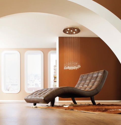 Senses: Relax on this beautiful sensual leather chaise longue.