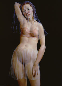 The Veil, oil on canvas by John Currin