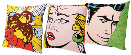 Comic Book Art on Cushions
